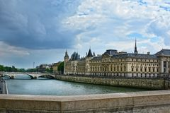 Castle Conciergerie, former royal palace and prison. Conciergerie located on the west of the Cite Island and today it is part of. Castle Conciergerie - former royalty free stock image
