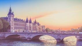 Castle Conciergerie - former royal palace and prison. Paris, France royalty free stock photos