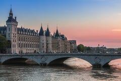 Castle Conciergerie - former royal palace and prison. Paris, France stock photography
