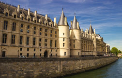 Castle Conciergerie, a former royal palace and prison in Paris, France. Royalty Free Stock Images