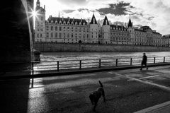 Castle Conciergerie is a former royal palace and prison in Paris. Located on the west of the Cite Island. Today it is part of the larger complex known as the royalty free stock images