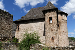Castle in Conques Royalty Free Stock Images