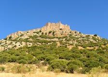 View of Calatrava la Nueva Castle, province of Ciudad Real, Castilla la Mancha, Spain Royalty Free Stock Photos