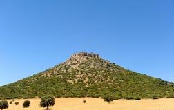 Castle of Calatrava la Nueva, province of Ciudad Real, Castilla la Mancha, Spain Royalty Free Stock Photography