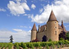Castle of Corcelles Stock Image