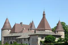 Castle of Corcelles en Beaujolais, France Stock Images