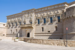 Castle of Corigliano d'Otranto. Puglia. Italy. Royalty Free Stock Photos