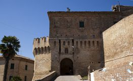 Castle of corinaldo Stock Photography