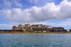 Castle Cornet has guarded Saint Peter Port. Island Guernsey, Grate Britain stock photography