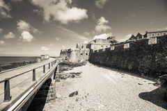 Castle Cornet and pier Royalty Free Stock Photography