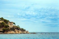 Castle on the Costa Brava in Lloret de Mar, Spain. Stock Photography