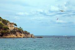 Castle on the Costa Brava in Lloret de Mar, Spain. Stock Photo