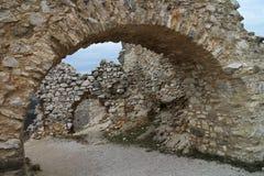 Castle of Countess Elisabeth Báthory, Čachtice. Slovakia royalty free stock photos