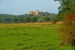 Castle and countryside Royalty Free Stock Images