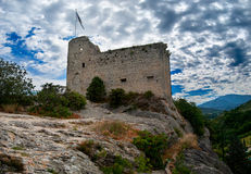 Castle of the counts of Toulouse. Castle on top of a rock in Vaison-la-Romaine, France Royalty Free Stock Photos