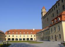 Castle courtyard. Courtyard of castle in Bratislava, Slovakia Royalty Free Stock Image