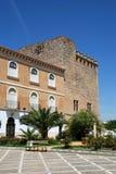 Castle courtyard, Cabra. View of the castle courtyard (Castillo de los Condes de Cabra) and battlements, Cabra, Cordoba Province, Andalusia, Spain, Western Royalty Free Stock Photo