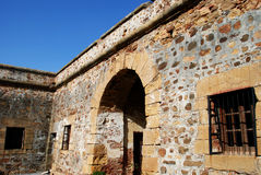 Castle courtyard, Duquesa. Royalty Free Stock Images