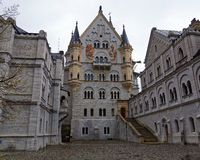 Castle courtyard of Neuschwanstein Royalty Free Stock Image