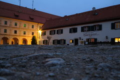 Castle courtyard of Wülzburg at night Royalty Free Stock Photos