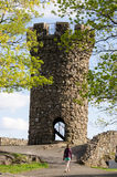 Castle Craig at Hubbard Park royalty free stock photography