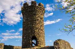 Castle Craig at Hubbard Park. Old tower at Connecticut's Hubbard Park Stock Images
