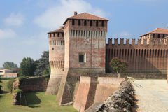 Castle in Cremona. Historic castle of Soncino in the province of Cremona near Milan, Italy Stock Image