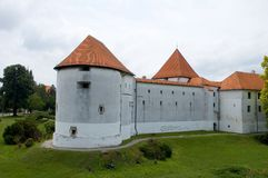 Castle in croatia 3. White castle with red roof Stock Photography