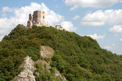 Castle of Csesznek. On the Bakony mountain, Hungary Royalty Free Stock Images