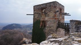 The castle of Csesznek in Hungary. stock photography