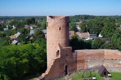 Castle from Czersk Royalty Free Stock Photos