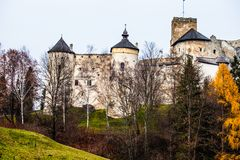 Castle at Czorsztyn Lake   Royalty Free Stock Image