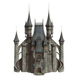Castle. 3D digital render of a fairytale castle isolated on white background Royalty Free Stock Images