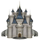 Castle - 3D render Stock Image