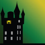 Castle with dark green background Royalty Free Stock Photography