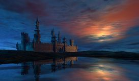 Castle at Dawn Stock Photo