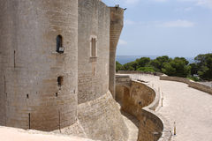 Castle DE Bellver. Royalty-vrije Stock Afbeeldingen