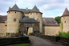 Castle de Corroy, Belgium. Fort with front gate and bridge Stock Photo