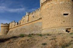 Castle de Grajal de Campos, en Leon, España imágenes de archivo libres de regalías