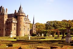 Castle 'De Haar' in Holland Royalty Free Stock Images