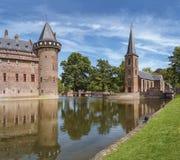 Castle De Haar located in Haarzuilens, The Netherlands. Stock Photos