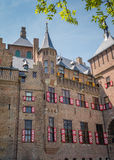Castle De Haar, The Netherlands, with its typical red and white window shutters Royalty Free Stock Photo