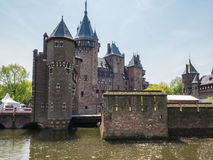 Castle De Haar, The Netherlands surrounded by a moat Stock Images