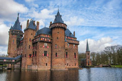 Castle De Haar in the province of Utrecht Stock Photos
