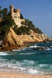 castle de lloret χαλά στοκ φωτογραφίες με δικαίωμα ελεύθερης χρήσης