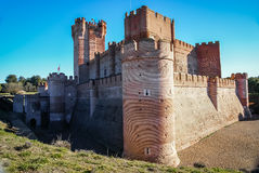 Castle de Mota en Médina del Campo, Valladolid, Espagne image stock