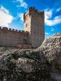 Castle de Mota en Médina del Campo, Valladolid, Espagne images stock