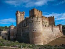 Castle de Mota en Médina del Campo, Valladolid, Espagne photos libres de droits