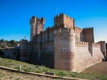 Castle DE Mota in Medina del Campo, Valladolid, Spanje royalty-vrije stock foto's