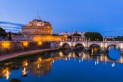 Castle de Sant Ángel en Roma Italia Fotografía de archivo